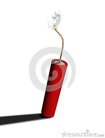 Dynamite on fire