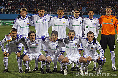 Dynamo Kiev team pose for a group photo Editorial Image