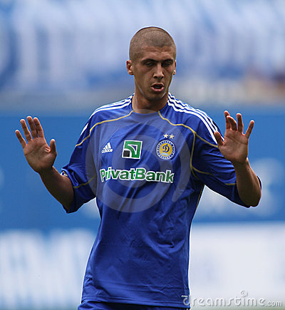 Dynamo Kyiv s defender Evgeniy Hacheridi Editorial Photography