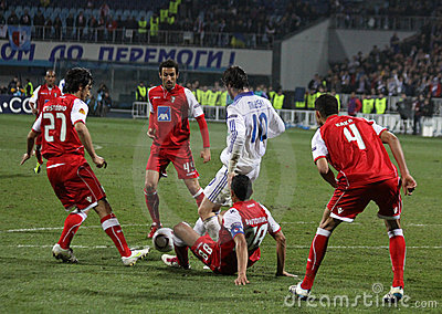 Dynamo Kyiv vs SC Braga Editorial Stock Photo