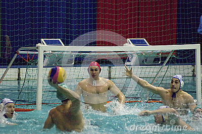 Dynamo(Moscow) vs Sintez (Kazan) of waterpolo Editorial Photo