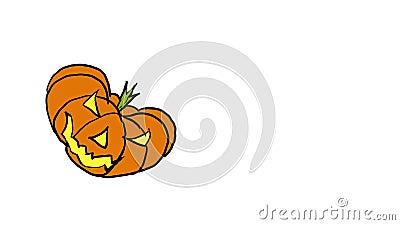 Dyniowy doskakiwanie na Halloween zbiory wideo
