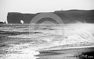 The Dyrholaey peninsula arch