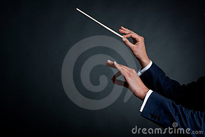 Dyrygenta samiec orkiestra