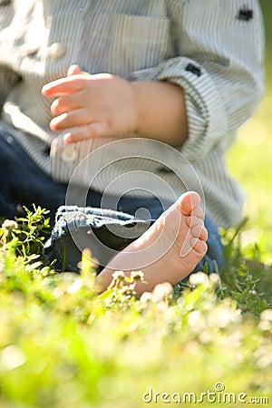 Dzieci palec u nogi