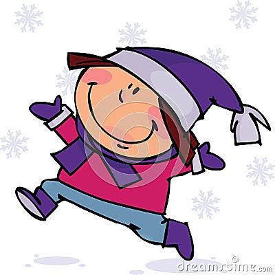 Dzieciak zima