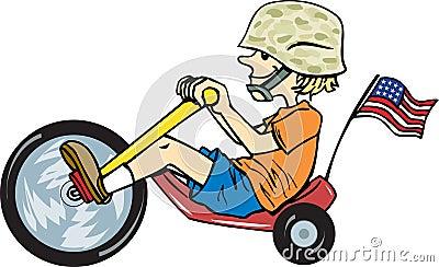 Dzieciaka żołnierz