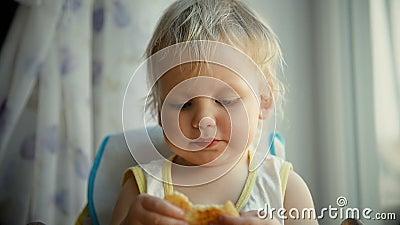 Dziecka łasowania blin zdjęcie wideo