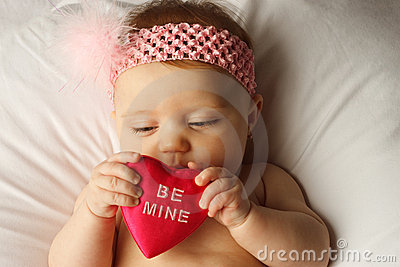 Dziecka kierowy chwyta valentine