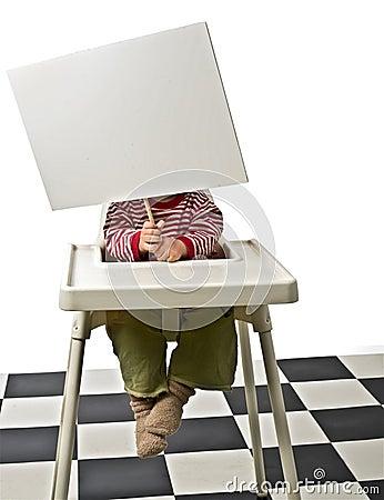 Dziecka krzesła znak