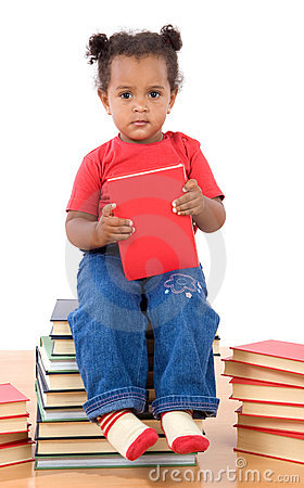 Dziecka książek palowy czytelniczy obsiadanie