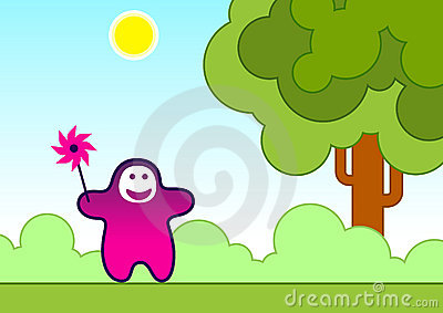Dziecka śmieszny zabawki wiatr