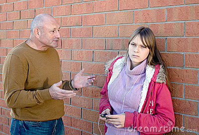 Dziecka rozmowy rodzic