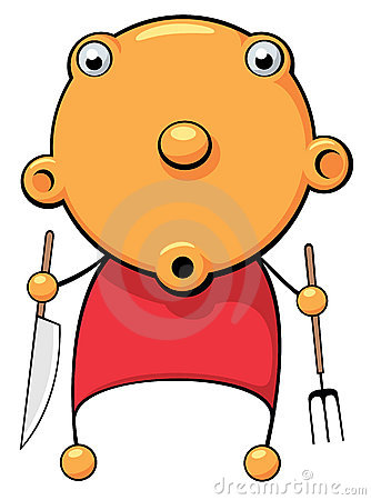 Dziecka zdziwiony głodny