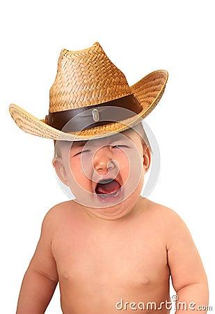Dziecko kowboj