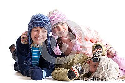 Dziecko odzieżowa zima