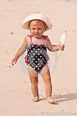 Dziecko plaża