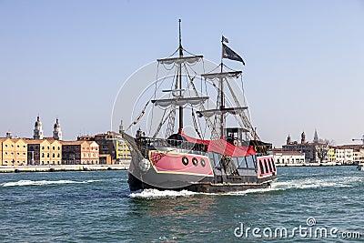 Dziejowy statek Obraz Editorial
