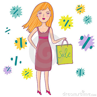 Dziewczyn miłości zakupy