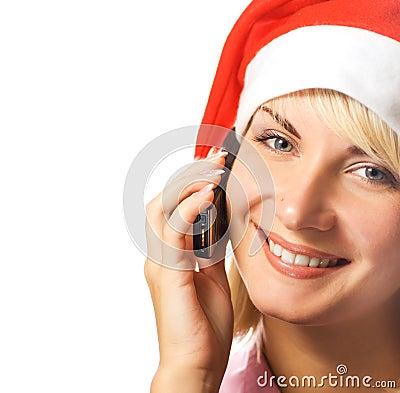 Dziewczyna świąteczne