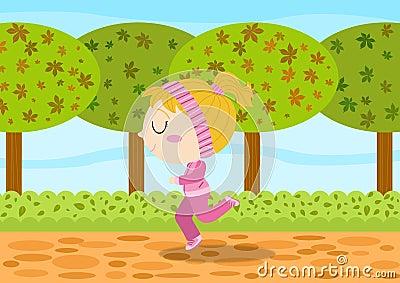 Dziewczyna bieg