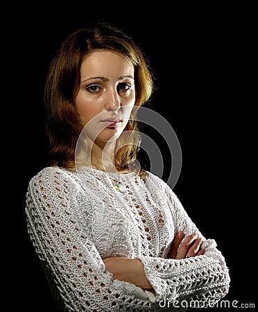 Dziewczyna klasyczne portret young
