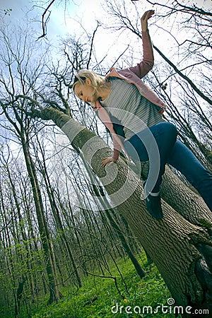 Dziewczyna leśna