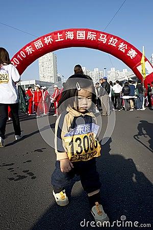 Dziewczyna maraton Obraz Stock Editorial