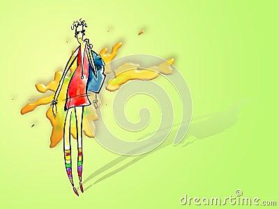 Dziewczyna modna