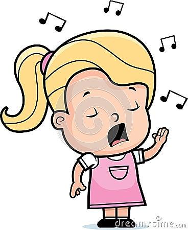 Dziewczyna śpiew