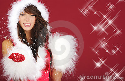 Dziewczyna Santa seksowny