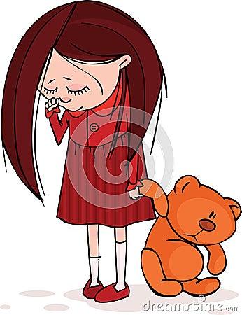 Dziewczyna smutna