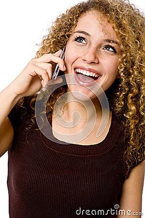 Dziewczyna telefon