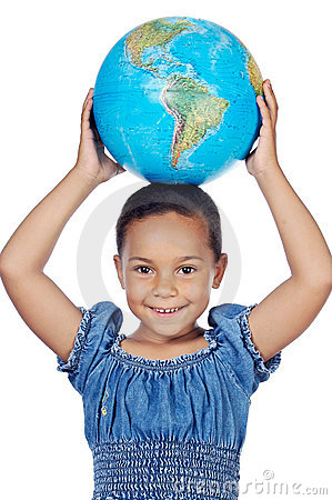 Dziewczyny globe świat
