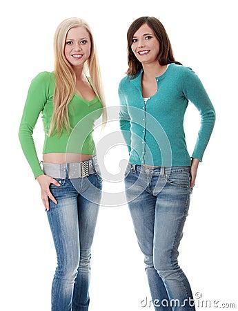 Dziewczyny szczęśliwi dwa