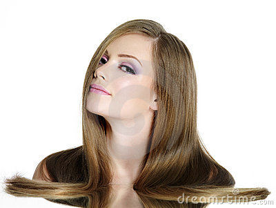 Dziewczyny włosy długi prosty nastoletni