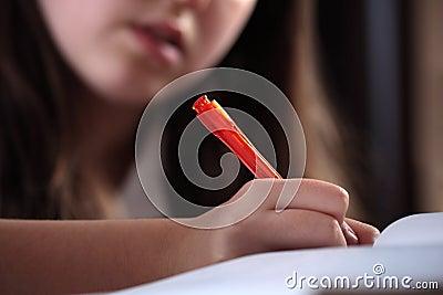 Dziewczyny writing