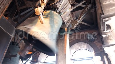 dzwonu pierścionek w kościelny wierza zbiory wideo
