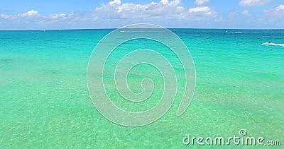 E пляж florida miami США видеоматериал
