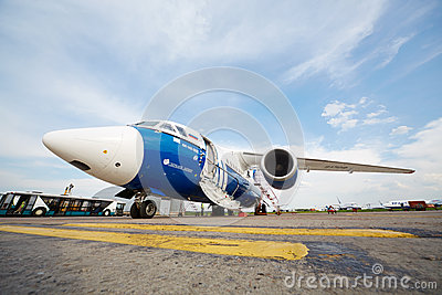 AN-148-100E in airport Domodedovo Editorial Stock Image