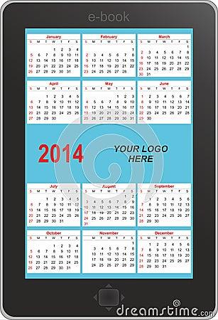 E-book calendar 2014