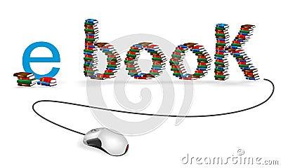 E-book concept, cdr vector