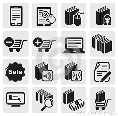 E-book icons