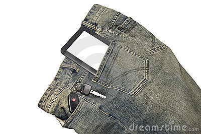 E-Book and Keys in Pocket