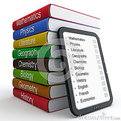 E-book and paper books