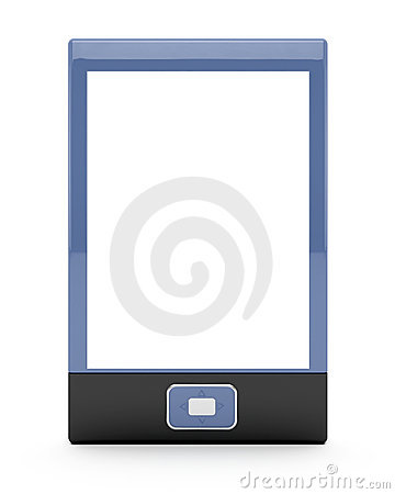 E-book reader with empty screen