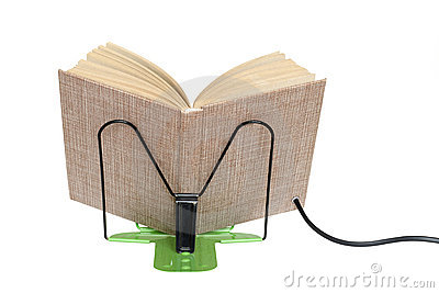 E-book on a stand
