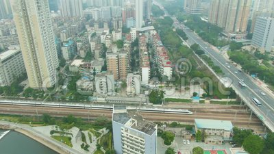 E China Lucht Mening stock videobeelden