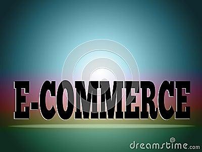 E-commerce background