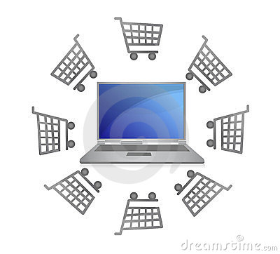 E-commerce concept -shopping carts